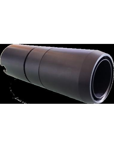 POT-Schlauchverbindungsstück für Werkzeugkopf mit Wärmeschrumpfhülse. Für Schneidemaschine Zünd Zund Zuend