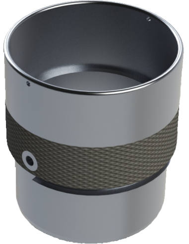 Ø 40 Aluminium Teflon Vergoldungsscheibenhalter. EOT-3. Für Schneidemaschine Zünd Zund Zuend