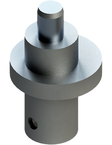 Asymmetric axis for the 1 mm oscilation generation of the EOT-40 Tool. For Zünd Zund Zuend cutting machines