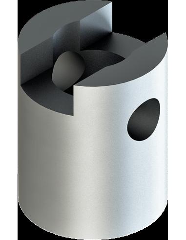 Adattatore femmina per l'asse del motore rotativo dell'utensile EOT-40. Per macchina da taglio Zünd Zund Zuend