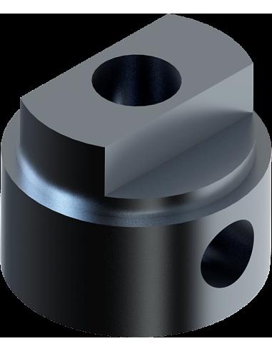 Adattatore maschio per l'asse del motore rotativo dell'utensile EOT-40. Per macchina da taglio Zünd Zund Zuend