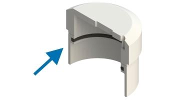 Ø 40 teflon gliding disc ring. POT-40 and POT-VA