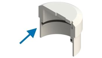 Ø 40 teflon gliding disc ring. EOT-3