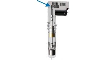 Soporte asimétrico para la barrita de oscilación. EOT-3