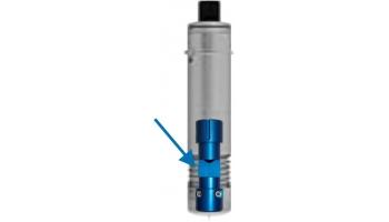 Soporte céntrico para cuchilla de 0,63 mm. para herramienta fija (azul).