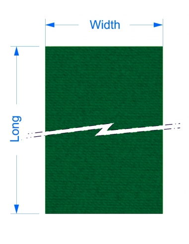 Zund LC-5200 - 1650x5520x4 mm / High density cutting underlays for static cutting table.