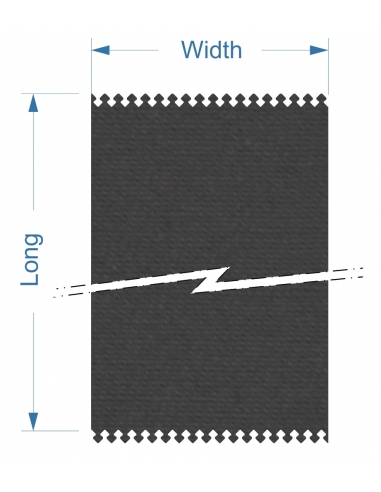 Zund G3 M-2500+2M-CE2500 Front - 1380x15960x2,5 mm / Superficie de corte alta densidad banda conveyor