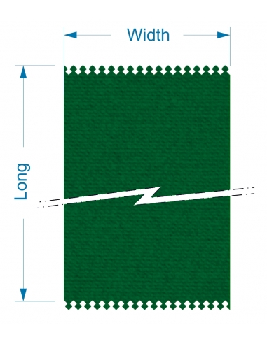 Zund S3 L-1600+2CVE16 - 1850x10590x4 mm / High density cutting belt for conveyor system