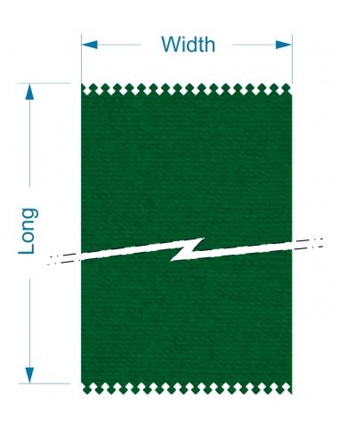 Zund G3 M-2500+2M-CE2500 Front - 1380x15960x4 mm / High density cutting belt for conveyor system