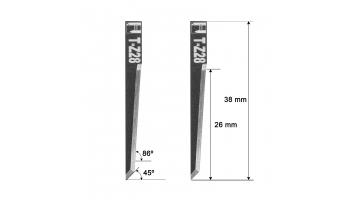 Atom blade Z28 / 3910318 / HTZ-028 knife zund knives htz28