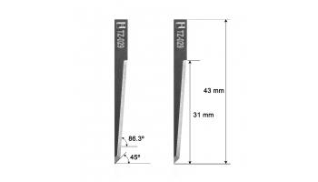 Esko Kongsberg blade Z29 / 3910319 / HTZ-029 HTZ29 Z-29 Esko Kongsberg knife knives