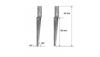 Dyss blade Z63 5002637 Dyss Z-63 HTZ063 HTZ-063 KNIFE KNIVES