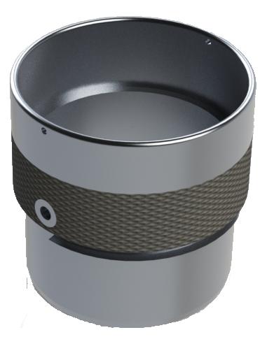 Porte-disque à dorure en téflon Ø 40 aluminium. EOT-40. Machine de découpe Humantec