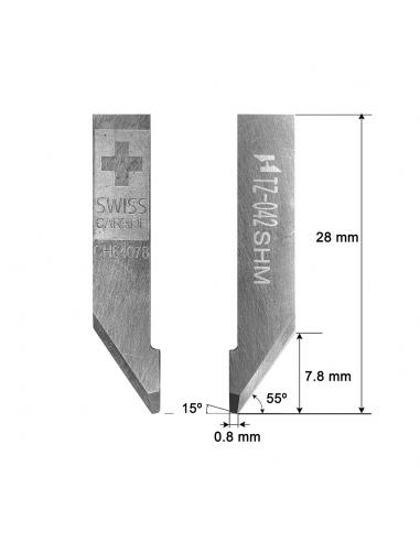 Cuchilla SUPER HARD METAL  SHM-042 Zünd Z42 / 3910324 / HTZ-042 HTZ42 Z-42 ZUND