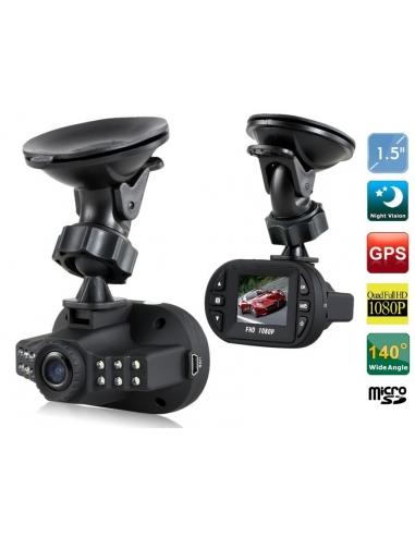 HotItem 1.5 TFT Screen 1080P HD Car Vehicle Camera with 12 Lights (Black)